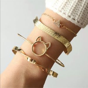 Jewelry - New Item✨ 4 pc Cat Bracelet Set 🐱💕